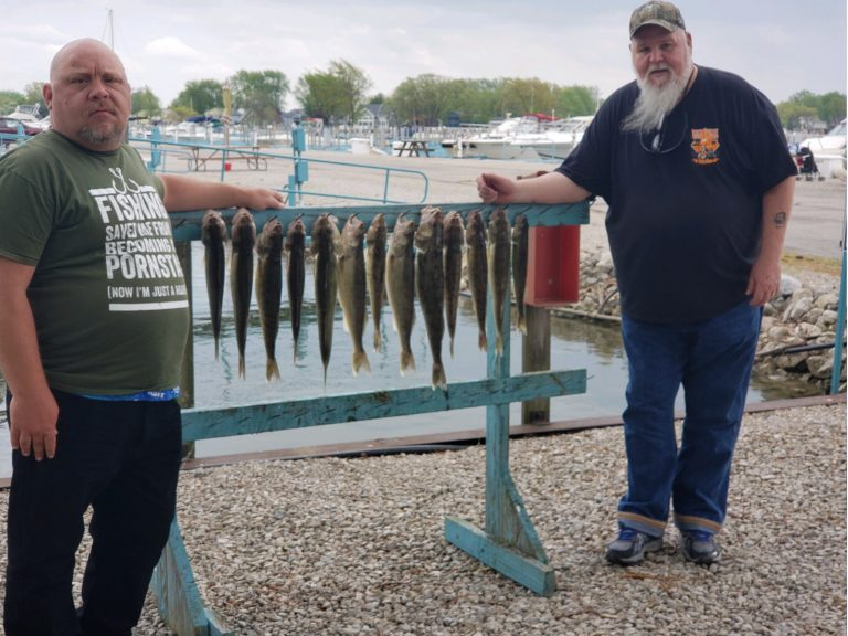 2 men with walleye