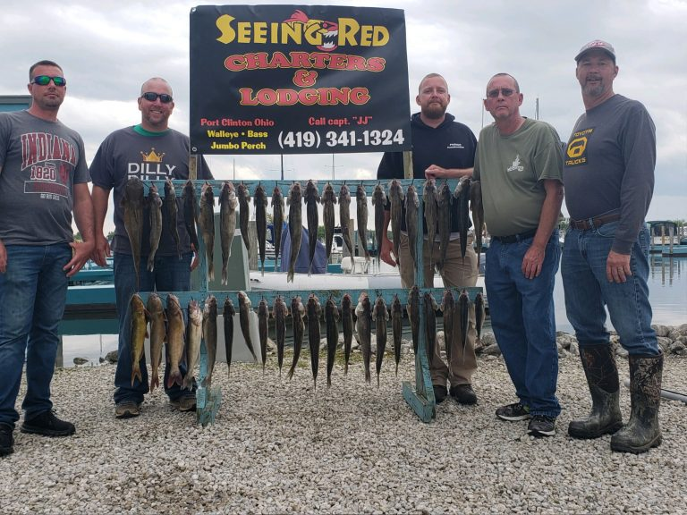 men with walleye