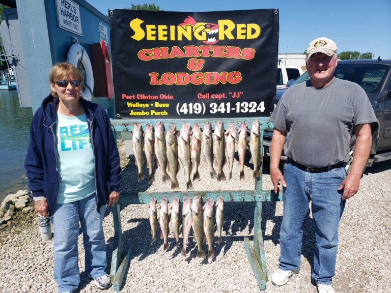 Couple with their Walleye Catch in June 2020