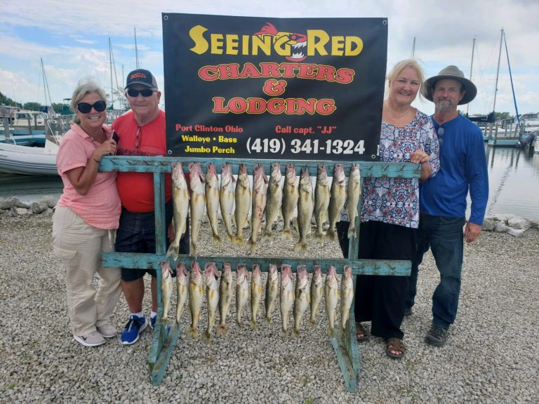 Fishing Couples With Their Proud Walleye Catch